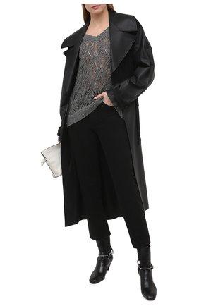Женский пуловер BRUNELLO CUCINELLI темно-серого цвета, арт. MAJ584902 | Фото 2