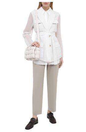 Женский шелковый жакет BRUNELLO CUCINELLI белого цвета, арт. MF940RN616 | Фото 2