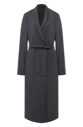 Женский халат LA PERLA темно-серого цвета, арт. 0043240 | Фото 1