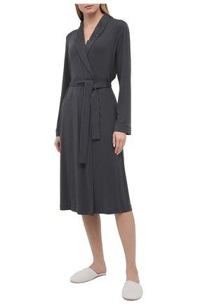 Женский халат LA PERLA темно-серого цвета, арт. 0043240 | Фото 2