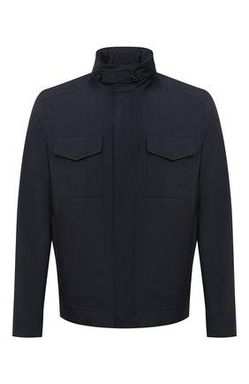Мужская куртка LORO PIANA темно-синего цвета, арт. FAL5139   Фото 1
