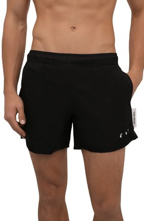 Мужские плавки-шорты OFF-WHITE черного цвета, арт. 0MFA003R21FAB001 | Фото 2