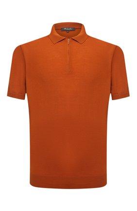 Мужское шерстяное поло LORO PIANA оранжевого цвета, арт. FAI6633 | Фото 1