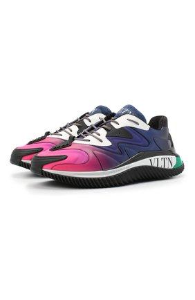 Мужские кожаные кроссовки wade runner VALENTINO разноцветного цвета, арт. VY2S0D95/GFV | Фото 1 (Материал внутренний: Текстиль; Подошва: Массивная; Стили: Гранж)