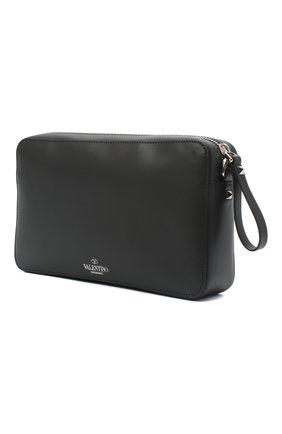 Мужская кожаная сумка vltn VALENTINO черного цвета, арт. VY2B0704/WJW   Фото 3 (Материал: Натуральная кожа; Ремень/цепочка: На ремешке)