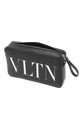 Мужская кожаная сумка vltn VALENTINO черного цвета, арт. VY2B0704/WJW   Фото 4 (Материал: Натуральная кожа; Ремень/цепочка: На ремешке)