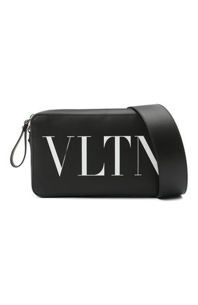 Мужская кожаная сумка vltn VALENTINO черного цвета, арт. VY2B0704/WJW   Фото 5 (Материал: Натуральная кожа; Ремень/цепочка: На ремешке)