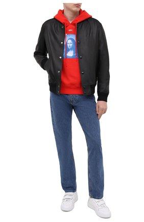 Мужской хлопковое худи OFF-WHITE красного цвета, арт. 0MBB037R21FLE001 | Фото 2