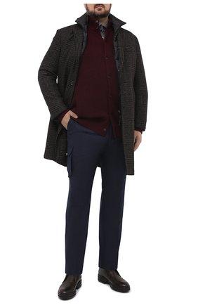 Мужские шерстяные брюки-карго KITON синего цвета, арт. UFPPCAK01T52/44-52 | Фото 2