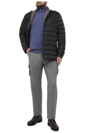 Мужские шерстяные брюки-карго KITON серого цвета, арт. UFPPCAK01L53/44-52 | Фото 2