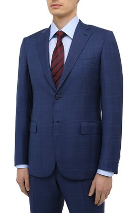 Мужской шерстяной костюм BRIONI синего цвета, арт. RA0J0M/P0A07/BRUNIC0 | Фото 2