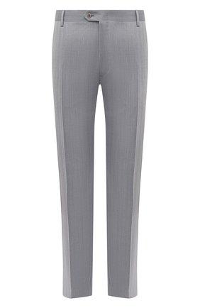 Мужские шерстяные брюки BRIONI серого цвета, арт. RPL800/P0A9I/MEGEVE | Фото 1
