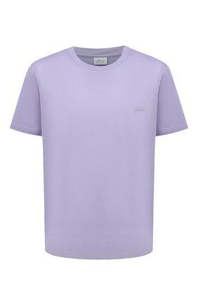 Мужская хлопковая футболка BRIONI сиреневого цвета, арт. UJCA0L/PZ600 | Фото 1