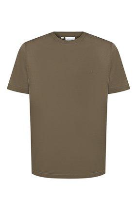 Мужская хлопковая футболка BRIONI хаки цвета, арт. UJCA0L/PZ600 | Фото 1