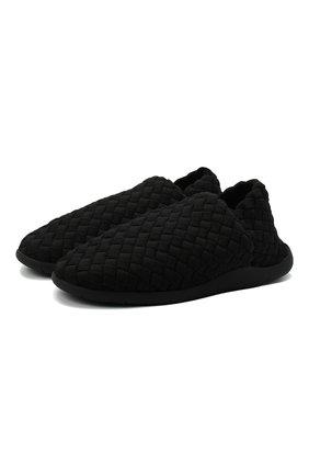 Мужские текстильные слиперы BOTTEGA VENETA черного цвета, арт. 651271/V0GV0 | Фото 1