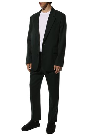 Мужские текстильные слиперы BOTTEGA VENETA черного цвета, арт. 651271/V0GV0 | Фото 2