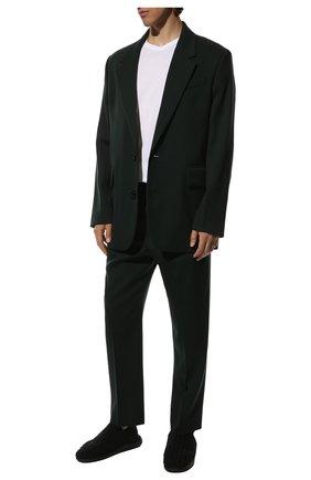 Мужские текстильные слиперы BOTTEGA VENETA черного цвета, арт. 651271/V0GV0 | Фото 2 (Материал внешний: Текстиль; Мужское Кросс-КТ: Слиперы-обувь; Стили: Кэжуэл; Материал внутренний: Текстиль, Натуральная кожа)