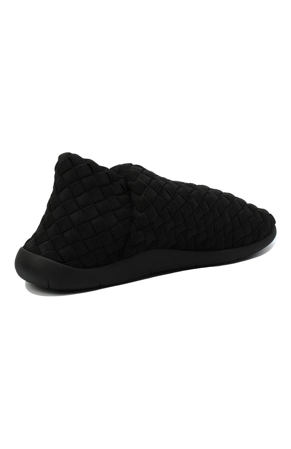 Мужские текстильные слиперы BOTTEGA VENETA черного цвета, арт. 651271/V0GV0   Фото 5 (Материал внешний: Текстиль; Материал внутренний: Натуральная кожа, Текстиль; Мужское Кросс-КТ: Слиперы-обувь; Стили: Кэжуэл)