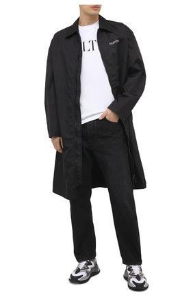 Мужская хлопковая футболка VALENTINO белого цвета, арт. VV3MG03S72C | Фото 2 (Материал внешний: Хлопок; Принт: С принтом; Рукава: Короткие; Длина (для топов): Стандартные; Стили: Минимализм)