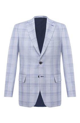 Мужской пиджак из шерсти и шелка BRIONI светло-голубого цвета, арт. RG0J00/P0A7H/BRUNIC0 | Фото 1