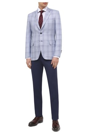 Мужской пиджак из шерсти и шелка BRIONI светло-голубого цвета, арт. RG0J00/P0A7H/BRUNIC0 | Фото 2