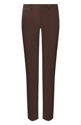 Мужские хлопковые брюки BRIONI коричневого цвета, арт. RPN40L/PZ048/AR0SA | Фото 1