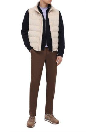 Мужские хлопковые брюки BRIONI коричневого цвета, арт. RPN40L/PZ048/AR0SA | Фото 2
