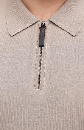 Мужское шерстяное поло BRIONI светло-бежевого цвета, арт. UMS10L/0ZK28   Фото 5