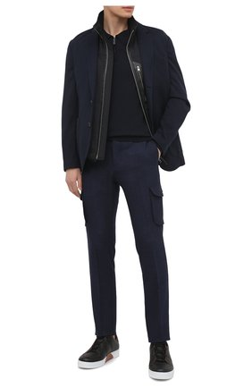 Мужское шерстяное поло BRIONI темно-синего цвета, арт. UMS10L/0ZK28 | Фото 2