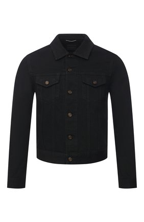 Мужская джинсовая куртка SAINT LAURENT черного цвета, арт. 597085/YF899 | Фото 1 (Стили: Кэжуэл; Длина (верхняя одежда): Короткие; Кросс-КТ: Деним, Куртка; Рукава: Длинные; Материал внешний: Хлопок)