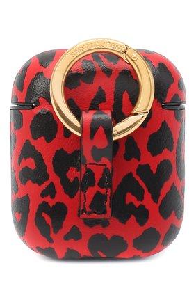 Кожаный чехол для airpods SAINT LAURENT красного цвета, арт. 635662/2RU3J | Фото 2