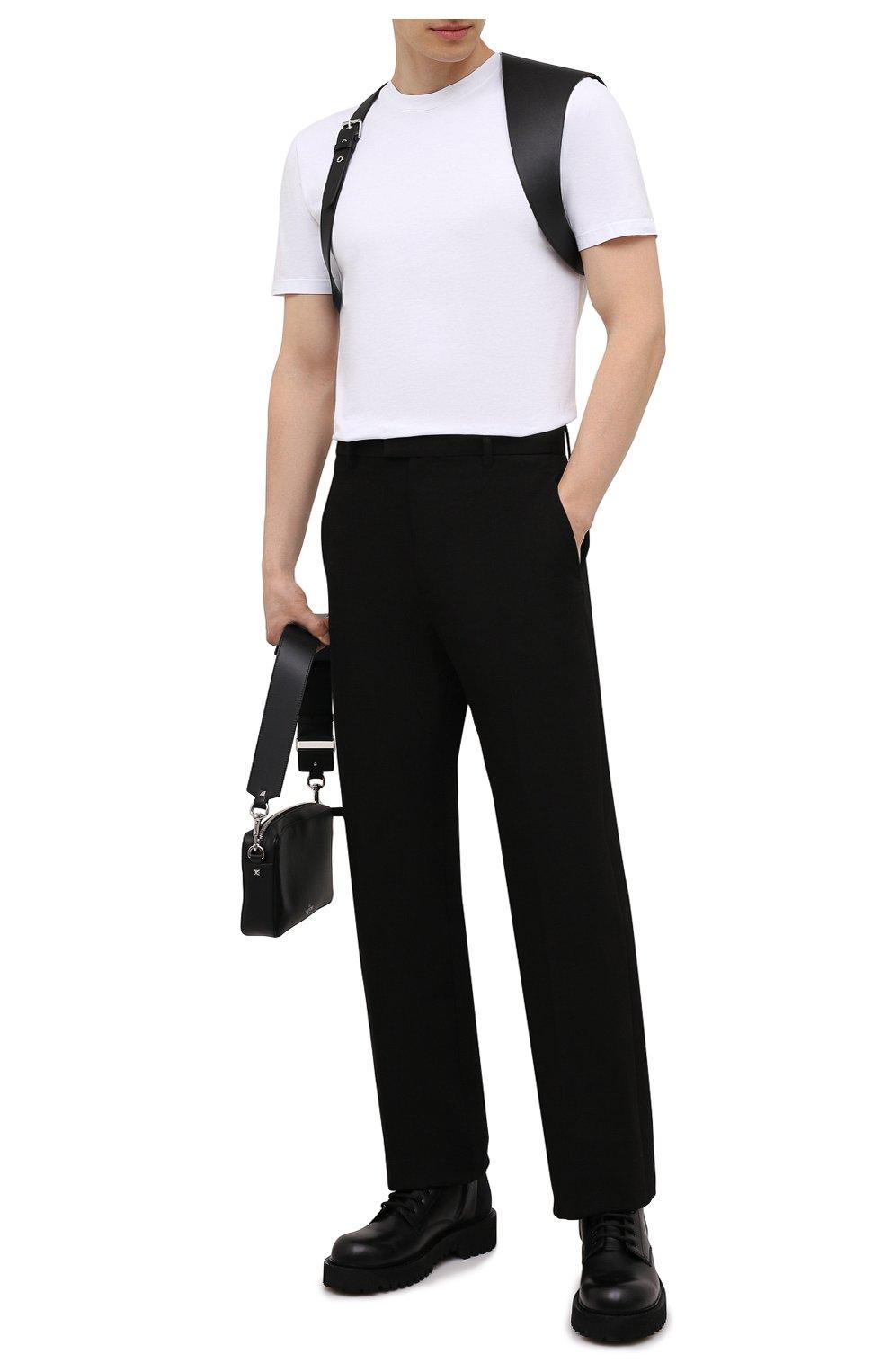 Мужской кожаный ремень ALEXANDER MCQUEEN черного цвета, арт. 651918/Q5FCI | Фото 2