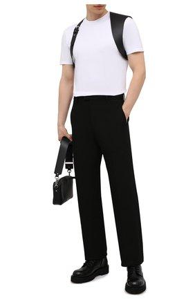 Мужской кожаный ремень ALEXANDER MCQUEEN черного цвета, арт. 651918/Q5FCI | Фото 2 (Случай: Повседневный)