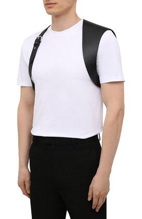 Мужской кожаный ремень ALEXANDER MCQUEEN черного цвета, арт. 651918/Q5FCI | Фото 3