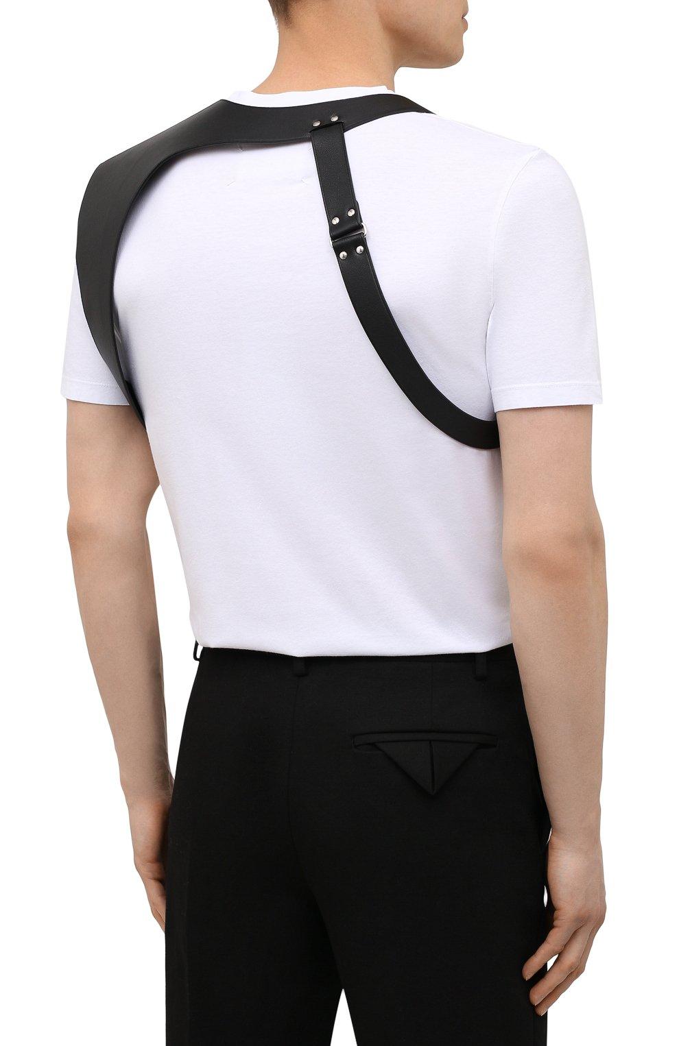 Мужской кожаный ремень ALEXANDER MCQUEEN черного цвета, арт. 651918/Q5FCI | Фото 4