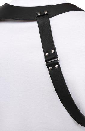 Мужской кожаный ремень ALEXANDER MCQUEEN черного цвета, арт. 651918/Q5FCI | Фото 5