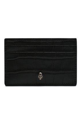 Мужской кожаный футляр для кредитных карт ALEXANDER MCQUEEN черного цвета, арт. 649212/DZTIY | Фото 1