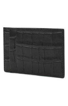 Мужской кожаный футляр для кредитных карт ALEXANDER MCQUEEN черного цвета, арт. 649212/DZTIY | Фото 2