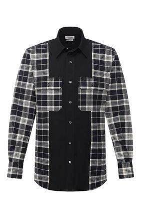 Мужская хлопковая рубашка ALEXANDER MCQUEEN черно-белого цвета, арт. 646751/QQN12   Фото 1
