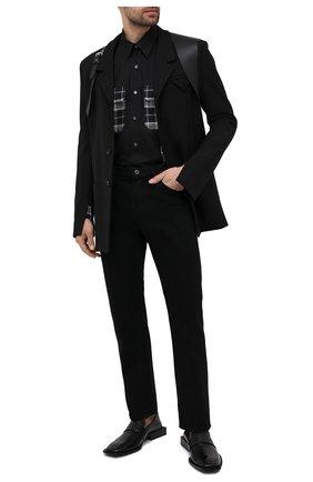 Мужская хлопковая рубашка ALEXANDER MCQUEEN черно-белого цвета, арт. 646751/QQN12   Фото 2