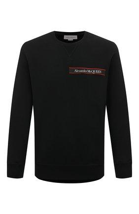 Мужской хлопковый свитшот ALEXANDER MCQUEEN черного цвета, арт. 642663/QQX75 | Фото 1