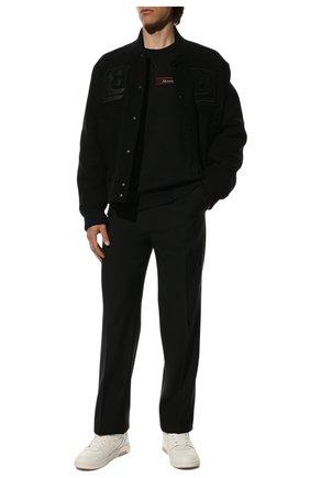 Мужской хлопковый свитшот ALEXANDER MCQUEEN черного цвета, арт. 642663/QQX75 | Фото 2