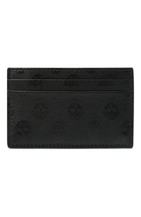 Мужской кожаный футляр для кредитных карт ALEXANDER MCQUEEN черного цвета, арт. 602144/1AAAN | Фото 1