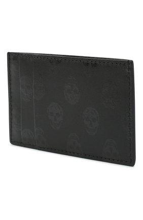 Мужской кожаный футляр для кредитных карт ALEXANDER MCQUEEN черного цвета, арт. 602144/1AAAN | Фото 2