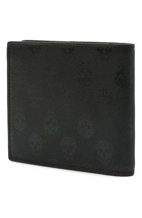 Мужской кожаное портмоне ALEXANDER MCQUEEN черного цвета, арт. 602137/1AAAN | Фото 2