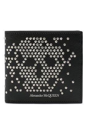 Мужской кожаное портмоне ALEXANDER MCQUEEN черного цвета, арт. 550818/1ACYN | Фото 1