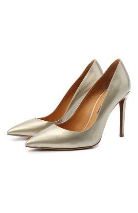 Женские кожаные туфли celia RALPH LAUREN серебряного цвета, арт. 800819036   Фото 1