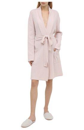 Женский кашемировый халат ARLOTTA розового цвета, арт. 2022 | Фото 2