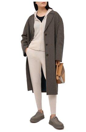 Женские кашемировые джоггеры ARLOTTA светло-бежевого цвета, арт. 2032 | Фото 2