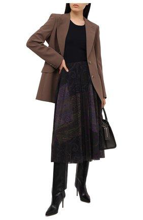 Женская плиссированная юбка RALPH LAUREN бордового цвета, арт. 293835472 | Фото 2